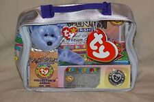 Ty Beanie Babies Official Club Platinum Edition Membership Bag 1999 MINT w/coin