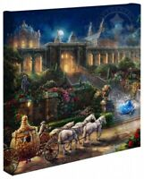 Thomas Kinkade Studios Disney Clock Strikes Midnight 14 x 14 Gallery Wrapped