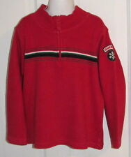 Boys Size 5 OSHKOSH Red Pullover Zip Sweater With Snowflake Patch Cotton