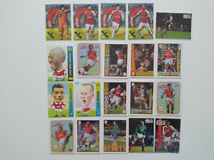 Vintage Arsenal Football/Soccer Cards Bundle - Topps, Merlin, Fans Selection (4)