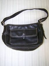 Nine West Black Faux Leather Shoulder Hand Bag Purse Small