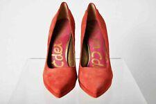 "SAM EDELMAN ""Celia"" Suede Pointy Toe Platform Heels - Red - Size: 9.5 Med. - New"