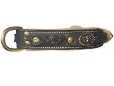 BEAR & GOODIES Hundehalsband, Lederhalsband, Elegant, M - XL Hunde