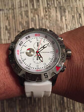Mens Designer Silicone Jelly Rubber Ultra Sport Hip Hop Large Face Watch White