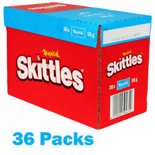 Skittles 36 Bags Tropical Flavoured Fruit Candy Sweets 55g Per Pack   Tropical