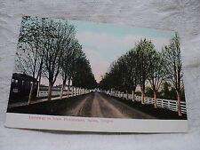 Salem Or Oregon State Penitentary Driveway & Trolley early 1900's Postcard