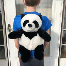 "Panda Bear Backpack 19"" Bamboo School Cute Unipak Stuffed Plush Animal UD1874PA"