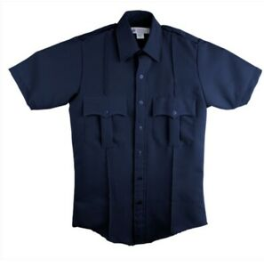 "Liberty Uniform Shirt First Responder Police Security 15.5"" Navy EMT 771MNV SS"