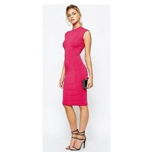 Ted Baker Fuchsia Bodycon Jaquard Knitted Dress Sizes 2 and 4 - NWT  $295
