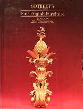 SOTHEBY'S Auction Catalog 5/6/1988 Fine English Furniture - London