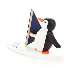 "Dregeno 17043 Figurine "" Penguin as SURFER "" of the Ore Mountains Wood NEW! #"