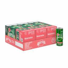 Perrier Watermelon Flavored Carbonated Mineral Water, 8.45 Fl Oz (30 Pack) Slim