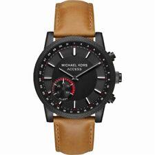 Michael Kors Access Men's Scout Black IP Brown Leather Hybrid Smartwatch MKT4026
