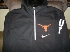 Texas Longhorns Nike Shield Alpha Fly Rush Gray 1 4 Zip Hoodie Jacket Men s  3xl 17230f272