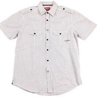 R.M. Williams Men's Longhorn Short Sleeve Plaid Shirt Size Small Classic Fit