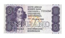 SOUTH AFRICA 5 Rand 1981 Reserve Bank P-119c, UNC B/11 Prefix No Security Stripe