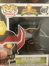 "Funko Pop 6"" Megazord (Black & Gold) #497  Morphicon Exclusive In Hand Protector"