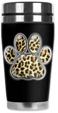 Animal Print Leopard Paw Print Travel Mug Water Proof Insulated Cup Mugzie Brand
