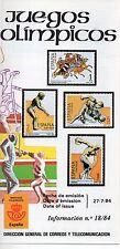 España Deportes Juegos Olimpicos año 1984 (DI-104)