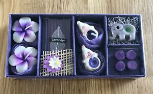 Windhorse Boxed Lavender Gift Set- Candles/incense/ Well-being - Spa- New