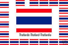 Assortiment 25 autocollants Vinyle sticker drapeau Thaïlande-Thaïland-Thaïlandia