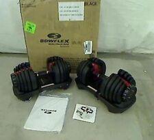 Pair of Bowflex Selecttech 552 Adjustable Dumbbells 100 2 50 lb Dial-up Weights