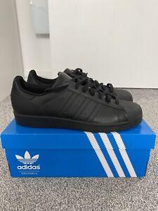 Adidas Superstar Black Trainers UK Size 11