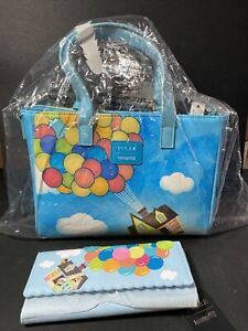 Disney Pixar Loungefly Up Purse With Wallet Russell Dug Carl Balloons NIP