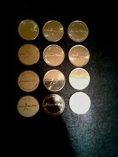 JOHNNIE WALKER SCOTCH ADVERTISING GOLD TONE COIN LOT OF 12