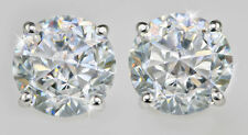 2 ct tw Screw Back Earrings Top Extra Brilliant CZ Screwbacks Sterling