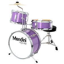Mendini 13 Inch Junior Children Drum Set in Black, Blue, Green, Red, or Purple
