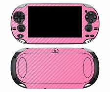 Pink Carbon Fiber Vinyl Decal Skin Sticker for Sony PlayStation PS Vita PSV