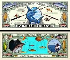 LA PECHE EN MER BILLET MILLION DOLLAR US! Collection Sport Ocean Poisson Au Gros
