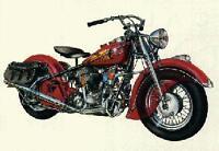Indian Chief Motorcycle Cutaway 1946-1948, Artist; David Kimble Car PosterWOW
