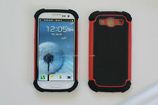 BALLSTIC STYLE ARMOR COMBO CASE for SAMSUNG GALAXY S3 SIII i9300 MULTIPLE COLORS