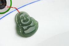 Magnifique Pendentif Bouddha en Jade Vert Véritable