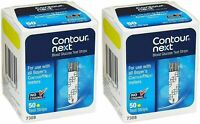 Bayer Contour Next Blood Glucose Test Strips 100 ( 2 x Boxes of 50 ) 11/30/2021