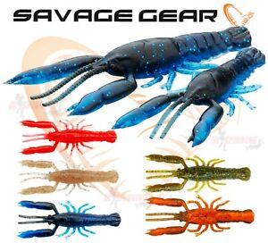 New 2021 3D Crayfish RATTLING Savage Gear Fishing Lures Drop Shot Jig Head Perch