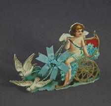 Aufsteller mit Engel um 1900/1910 / geprägter Karton (# 11738)