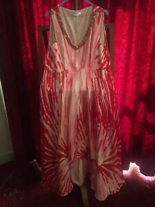 Robe du Soir Soie Marina Rinaldi Silk Evening Dress