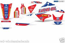 Graphic Kit Honda CR125 CR250 Dirt Decal Backgrounds Sticker CR 125/250 04-15 LO