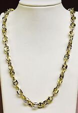 """18k solid Two Tone Gold Anchor Mariner Mens Chain/Necklace 9.5 MM 160 grams  28"""""""