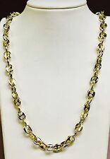 """10k solid  Two Tone Gold Anchor Mariner chain/necklace 9.5 MM 82 grams  20"""""""