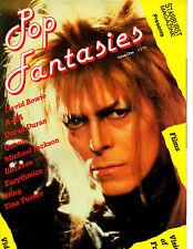 Pop Fantasies from Starburst Magazine UK 1980s David Bowie Tina Turner MJ A-Ha +