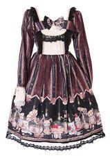 jsk-22-2 Burgundy Red Steam Punk Bear Cat Rabbit Pastel Goth Lolita Dress Kawaii