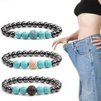 Magnet Heilung Perlen Lava Stein Gewichtsverlust Armbänder Therapie Gesundheit
