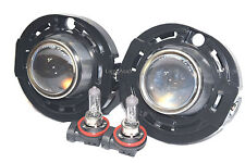 Glass Lens Fog Driving Light Lamps Metal Body w/2 Bulb One Pair Fit 2017 Compass
