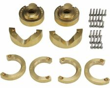 Hot Racing - Brass Steering Knuckles Portal Gear Cover, Super Heavy, for TRX4