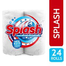 More details for 24 kitchen roll / towel 2 ply 10m per roll - splash super absorbent printed