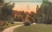 Vintage Postcard 1932 In the Arboretum University of North Carolina Chapel Hill